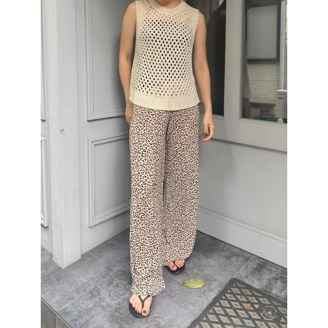 LEOPARD SMOOTH PANTS