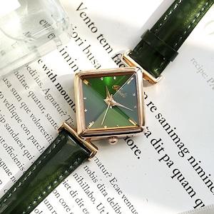 人気上昇中 菱形 レトロ シンプル 合わせやすい おしゃれ レディース 腕時計 <ins-2088>