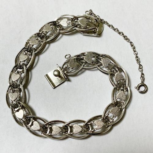 Vintage Sterling Silver Heart Link Bracelet ③