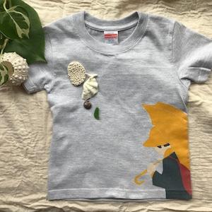 """【GREY/グレー】【KIDS  """"Buttercup T """" 】Tシャツ キッズサイズ おしゃれ な オリジナルデザイン"""