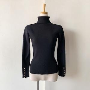 残り1点!Double Standard Clothing×akko3839 袖ボタンタートルネックニット0509270211