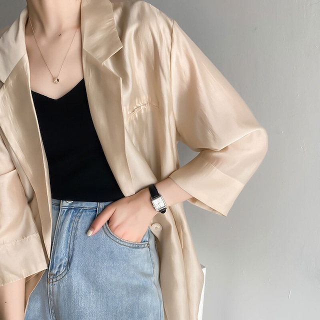 シースルージャケット |  7分丈 シアー 羽織もの テーラード