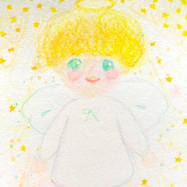 絵画 インテリア アートパネル 雑貨 壁掛け 置物 おしゃれ ロココロ 画家 : あゆみそう 作品 : ひかり天使