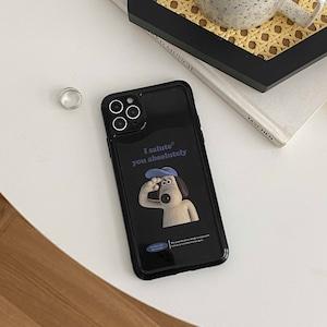 salute white Dog iPhone case