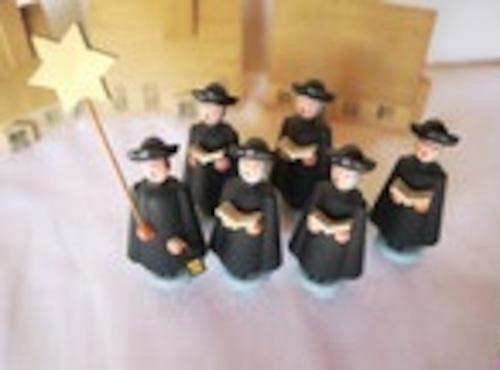 クリスマスオーナメント 村の聖歌隊 GDR エルツ 伝統工芸 クレンデ ヴィンテージクリスマス飾り