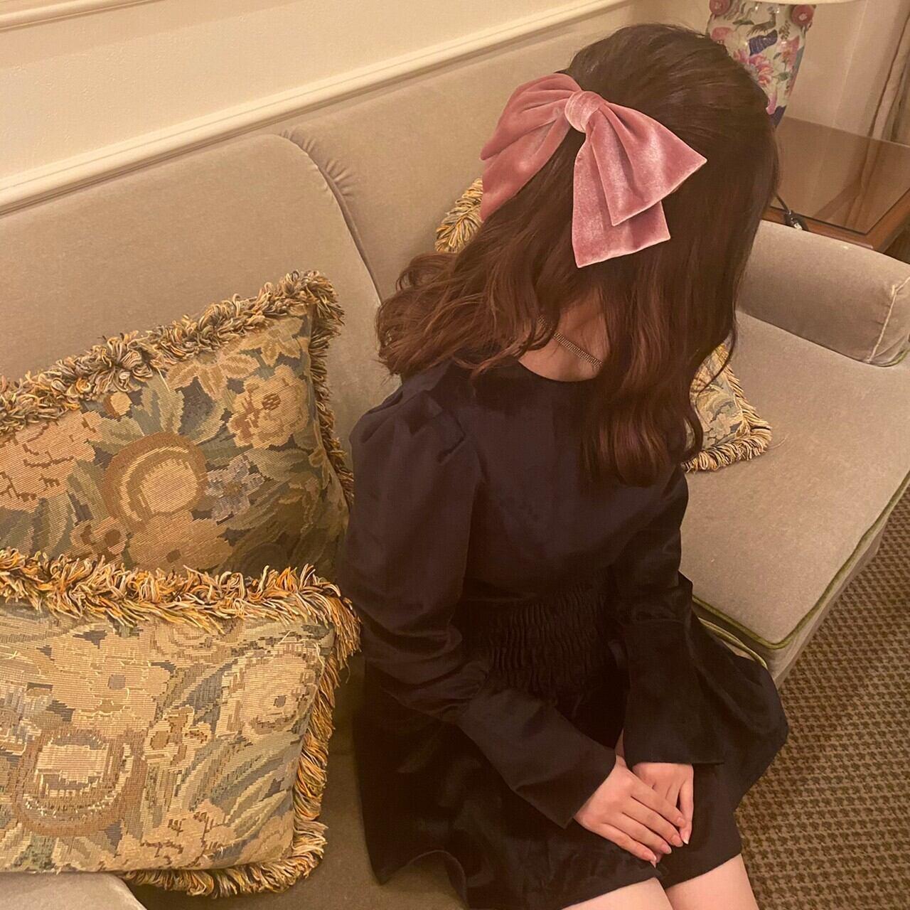 velours ribbon barrette