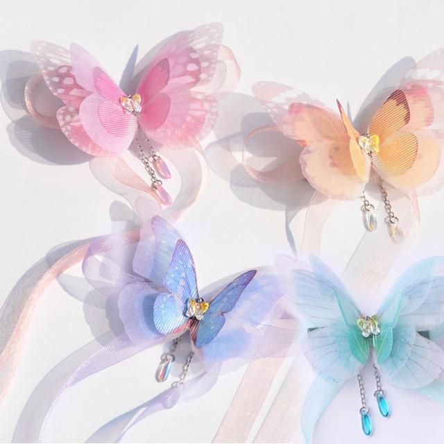 [4color] 胡蝶の夢 ヘアクリップ