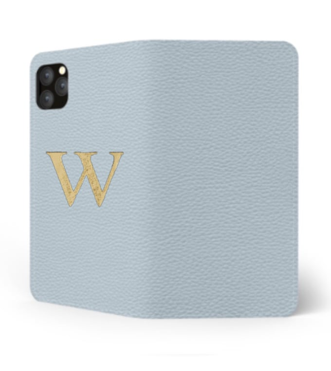 iPhone Premium Shrink Leather Case (Sky Blue)  : Book cover Type