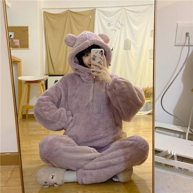 熊さんフリースパジャマ