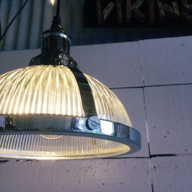 TOPANGA Lighting ガラスシェードランプ クローム