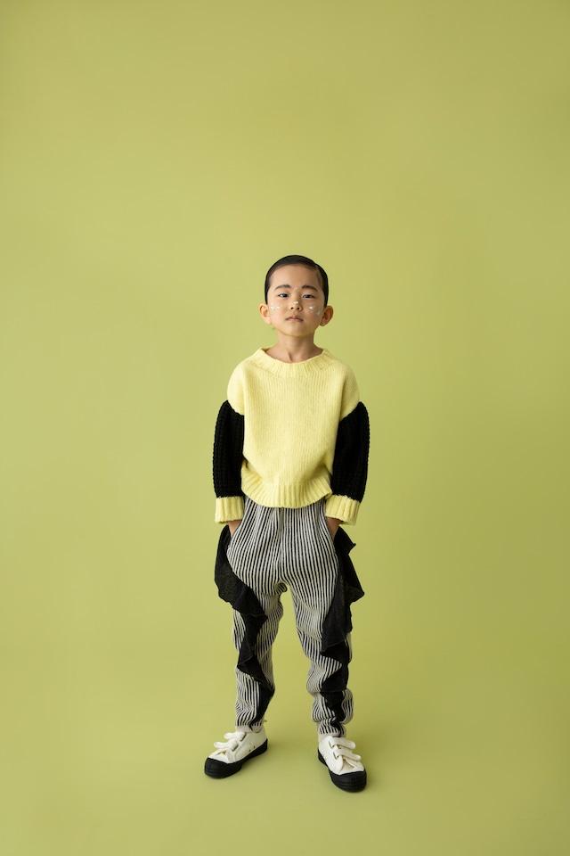 【21AW】folkmade(フォークメイド)frilled rib stitch pants パンツ black(S/M/L)