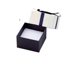 アクセサリー紙箱 リボン付きフェザーケース ピアス・リング・ネックレス切り込みスポンジ付き 12個入り 7340-REP