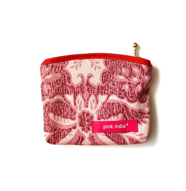 北欧デザイン ティッシュケース付ポーチ   medallion pink