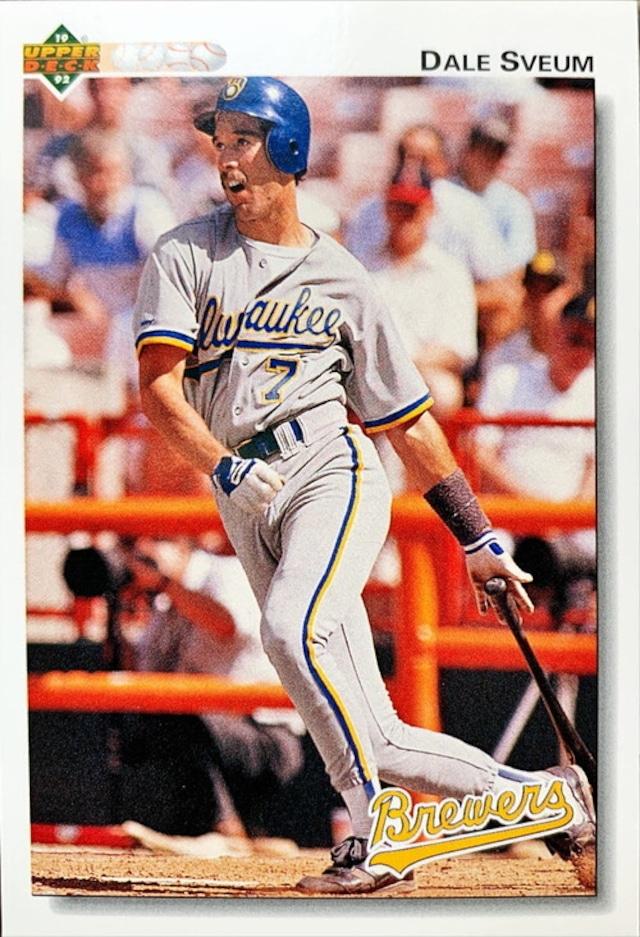 MLBカード 92UPPERDECK Dale Sveum #498 BREWERS