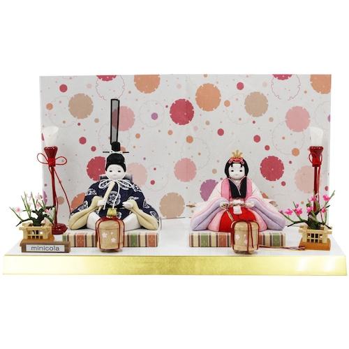 木目込 雛人形 みにこら「杏」27 (クーポンをご利用ください。)