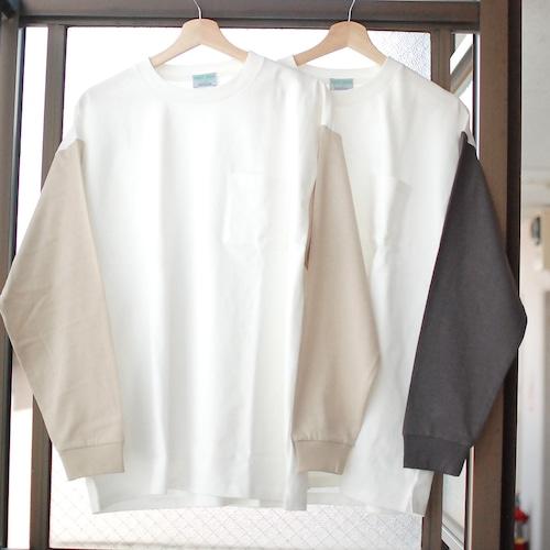 再入荷!【UNISEX】Two Tone Pocket Long Sleeve type -  B