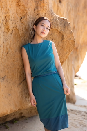 stretch smooth knit tops - emerald -