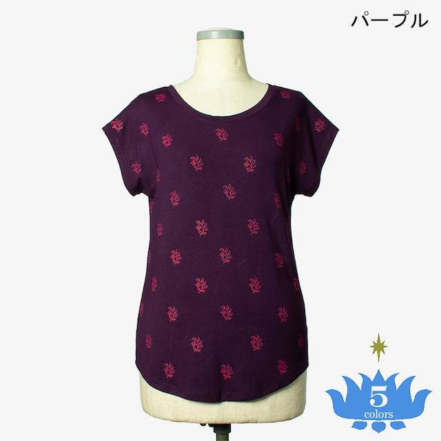 ブロックプリントTシャツ