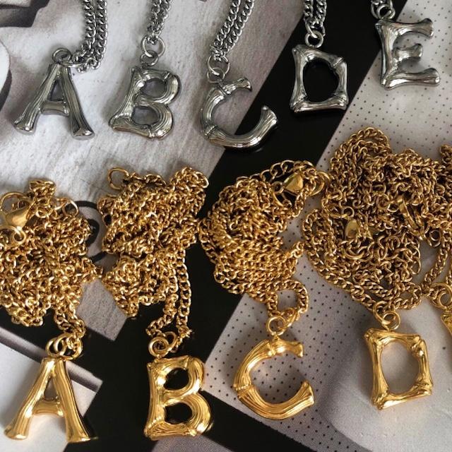 【翌日発送/数量限定】Initial necklace LD0152