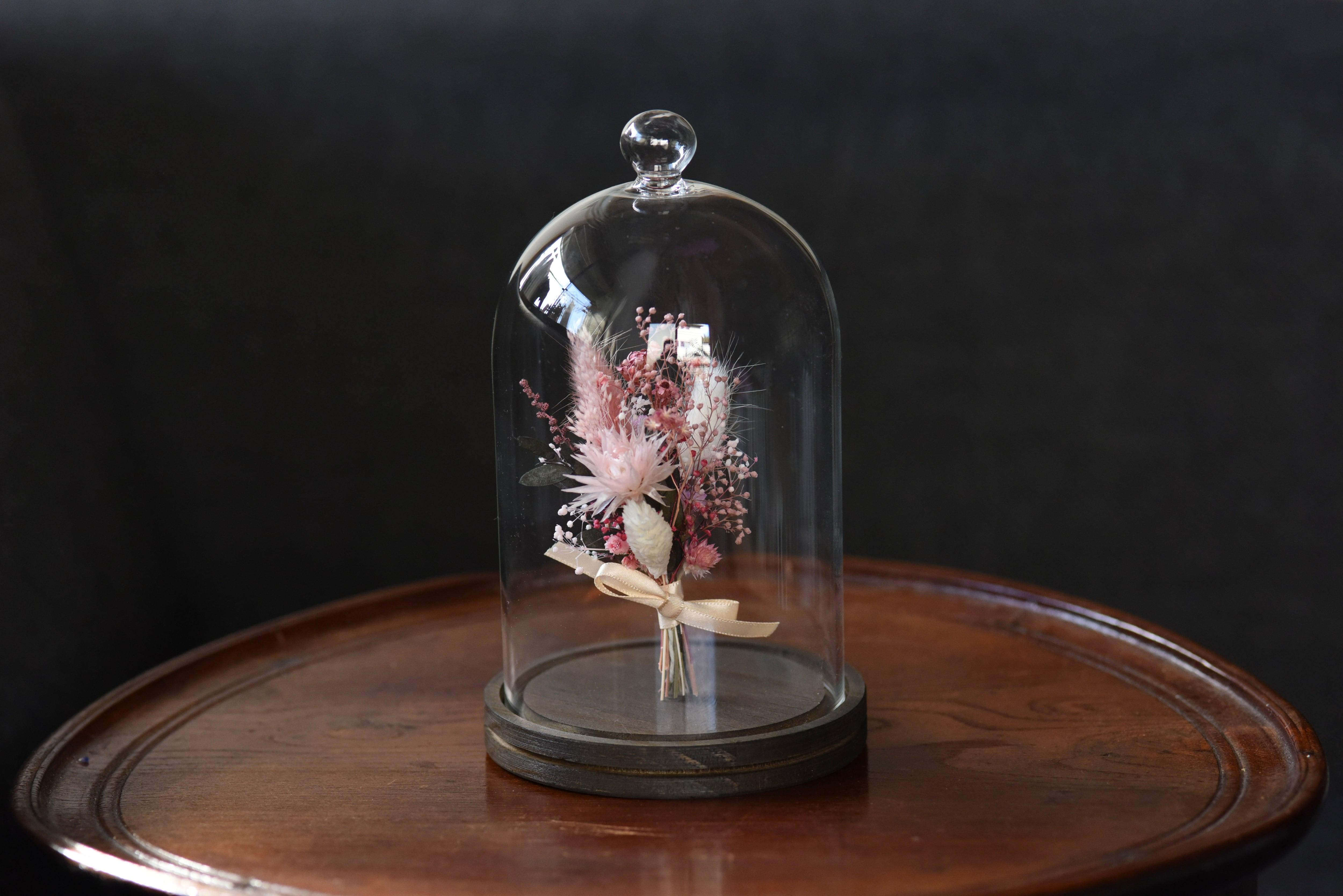 ガラスドームのお花たち