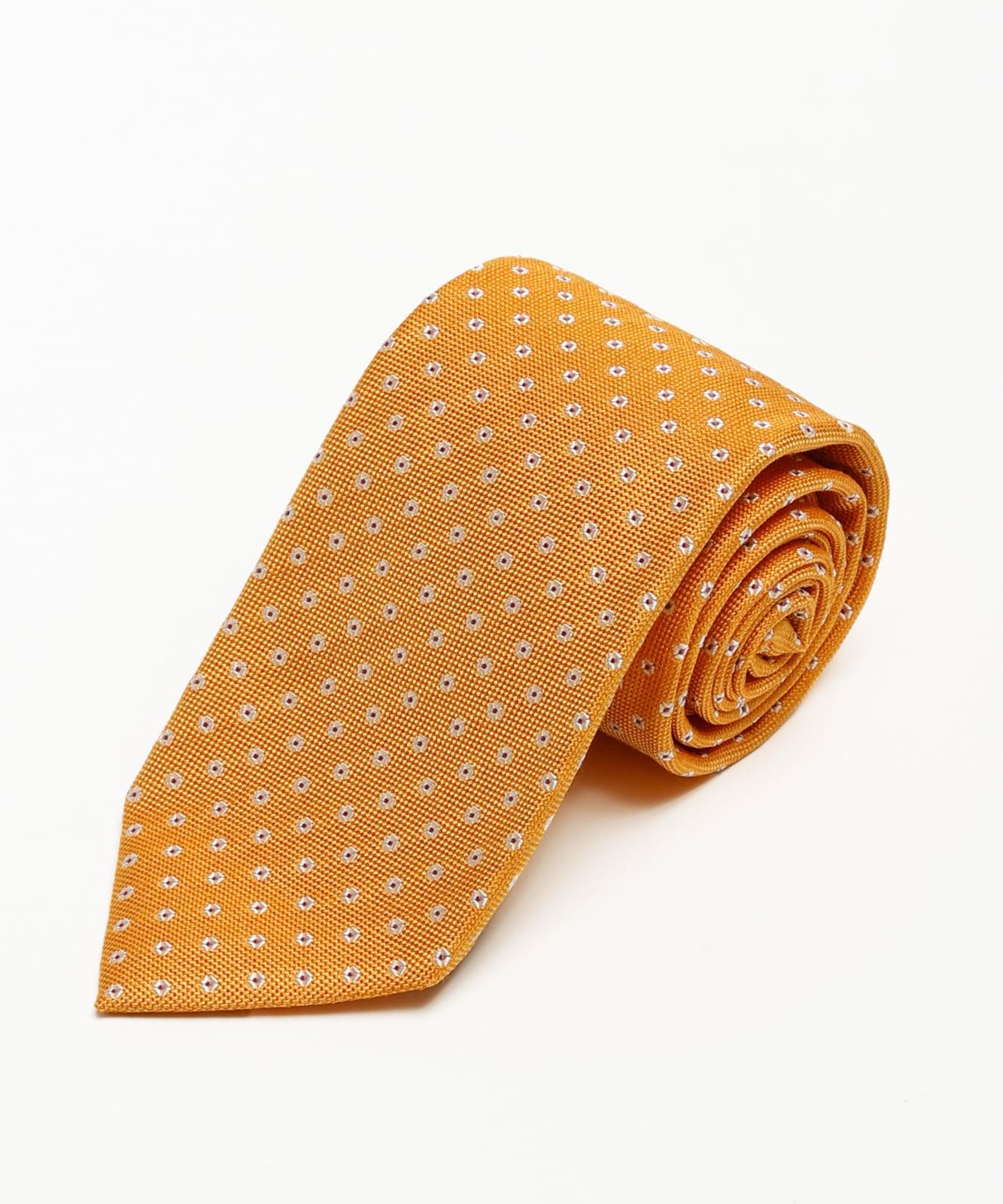 Franco Spada メランジパステル花小紋柄:オレンジ