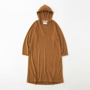 <WOMEN'S> HOODED DRESS - BEIGE