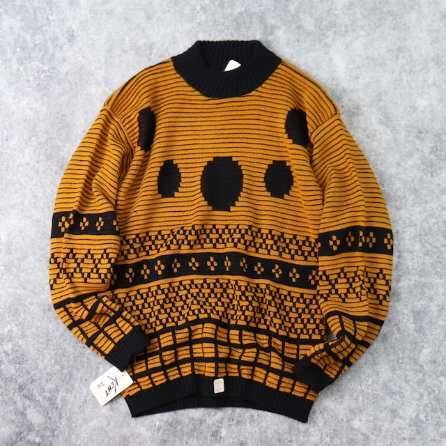 1980s  Deadstock   Design  Acrylic  Sweater   M b252