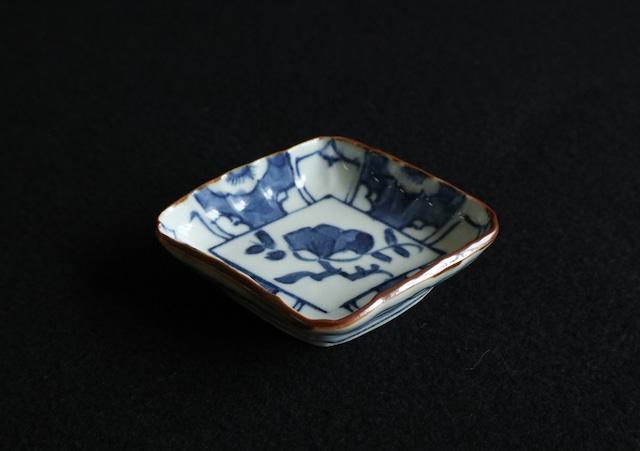 ■柳川謙治  :  染付梅図菱形豆皿