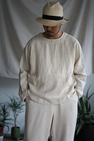 <STYLING> ⇨ Vincent Jalbert - Full Vintage Linen T Shirt (natural)