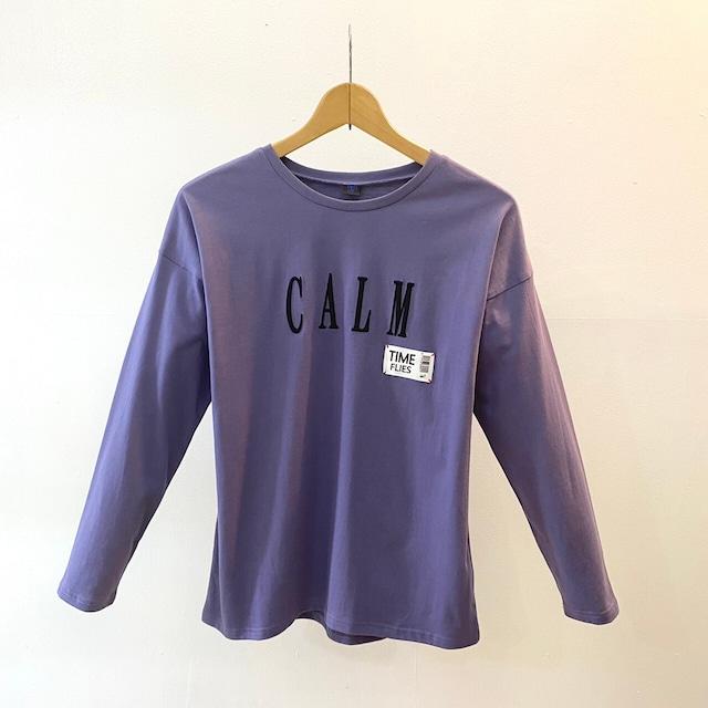 BEATRICE:刺繍ロゴ入りカットソー(Purple)