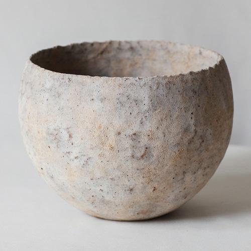 椀型白錆鉢(L)