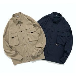 【UNISEX】ドロップショルダー ロングスリーブシャツ オータムカラー【2colors】