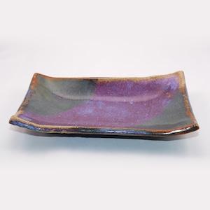 鈞窯 長皿  Kinyou Rectangular Plate
