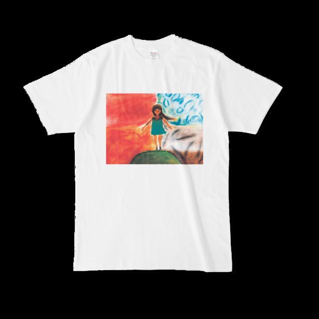 【税込・送料無料】日南かほ(Challenge_Girls!!)デザインTシャツ「四季風の手紙」