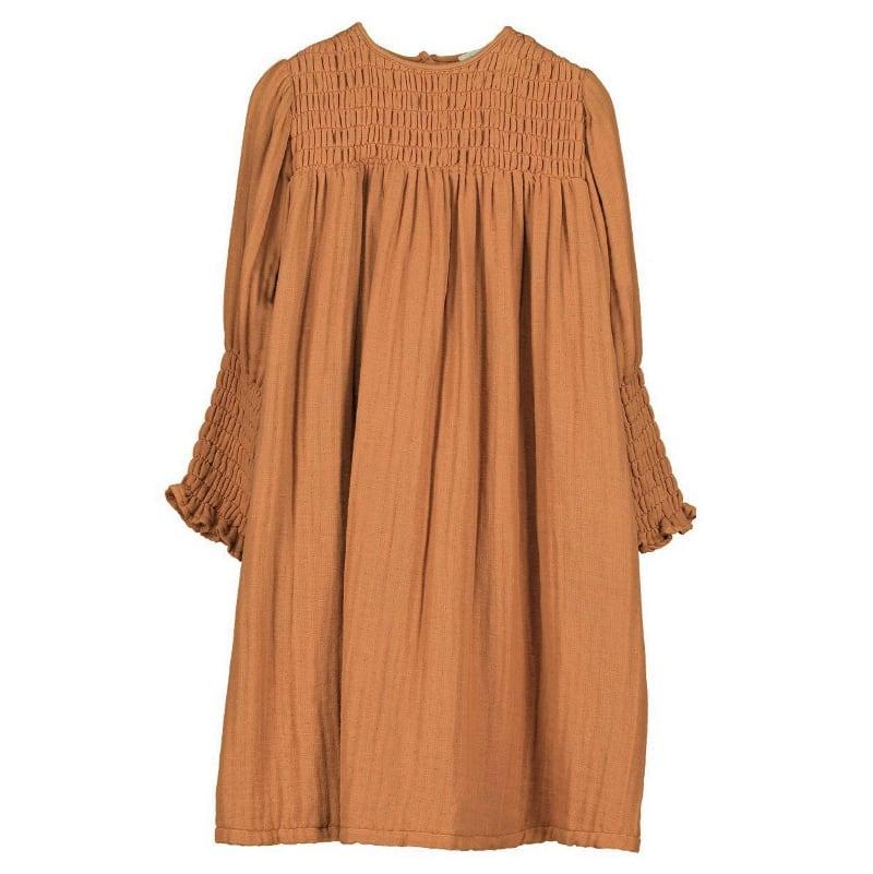 Belle chiara Dress (Rust)
