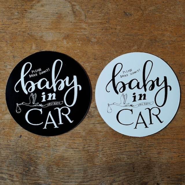 BABY in CAR サイン/ マグネット