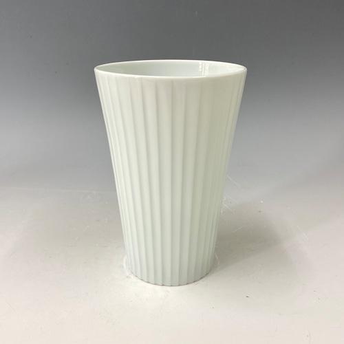 【中尾純】白磁線彫カップ(縦)