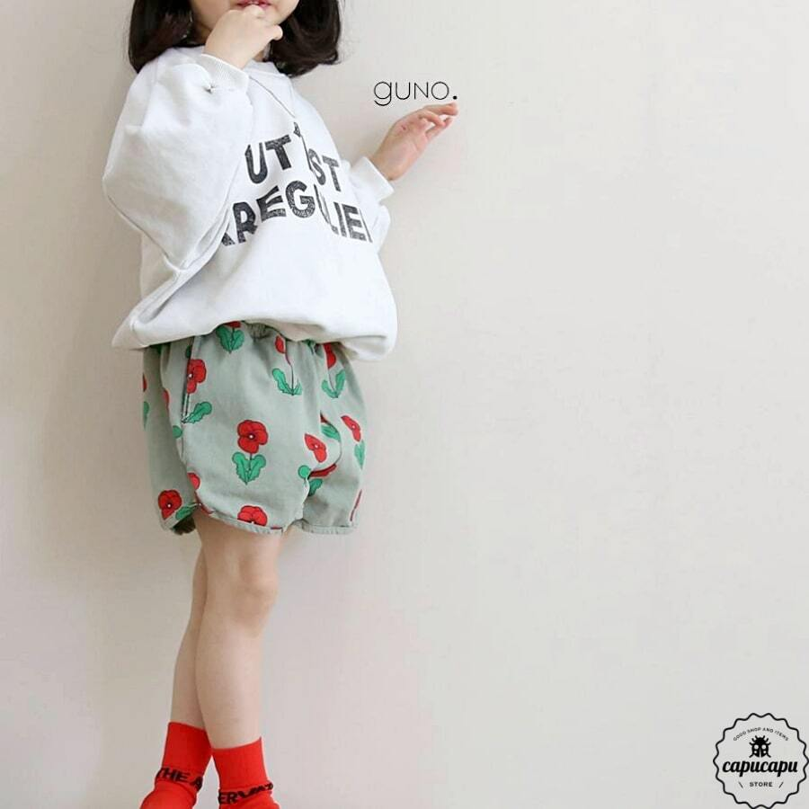 «sold out» guno flower short pants フラワーショート