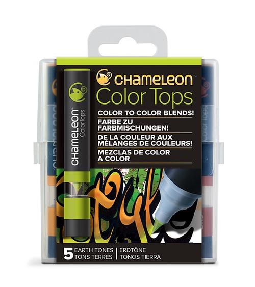 Chameleon Pen 5 Color Tops Earth Set (カメレオンペン 5本入りカラートップ アースセット)