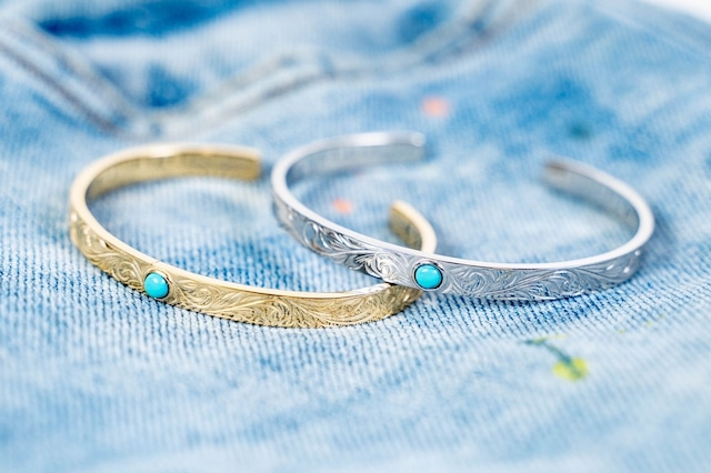 【316L Hawaiian turquoise bangle】