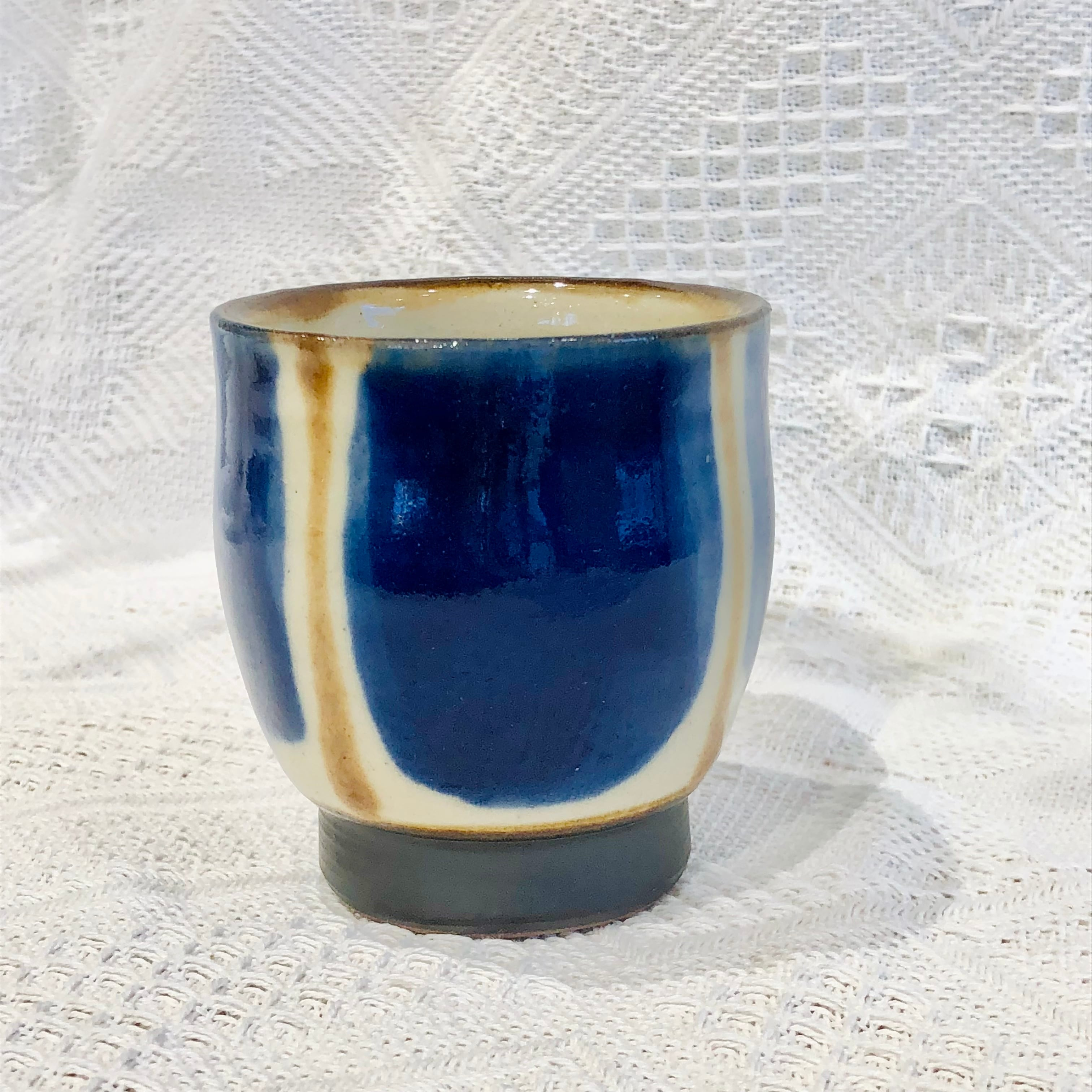『ノモ陶器製作所』湯呑  コバルトブルー