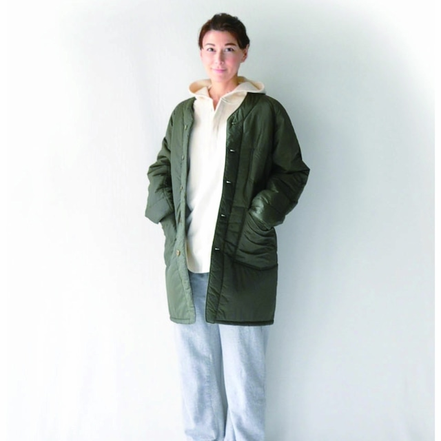 【vent blanc】ミリタリーナイロン ロングジャケット