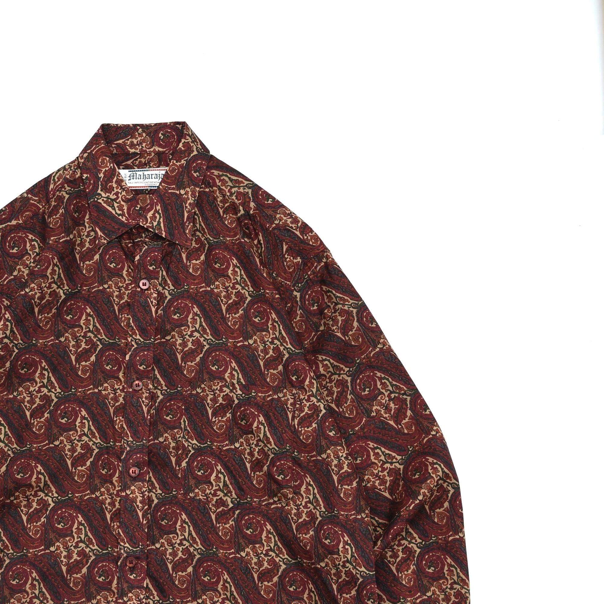 Mysterious paisley pattern silk shirt