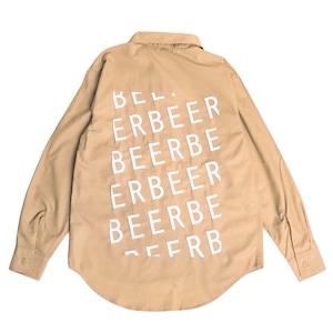 BEER 長袖ワークシャツ ブ モカベージュ