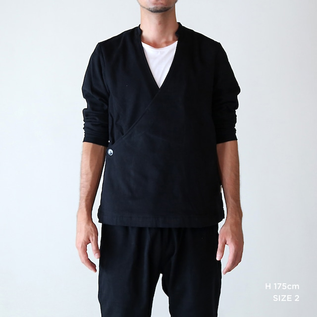 JK-25 立衿作務衣  チノ起毛 黒