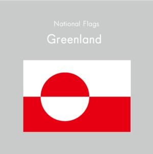 国旗ステッカー グリーンランド