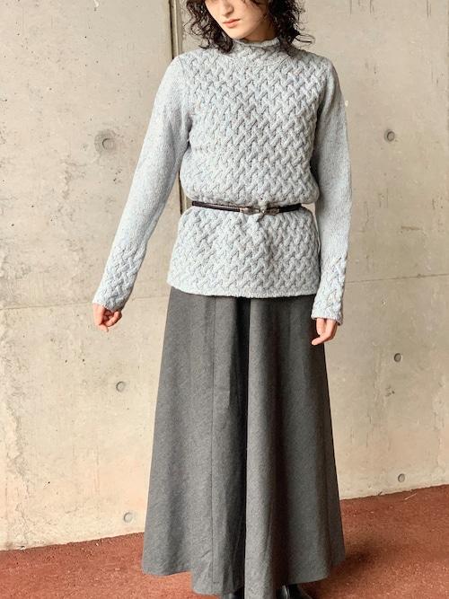 Irelands Eye High Neck Cashmere Blend Sweater Made In Dublin, Ireland