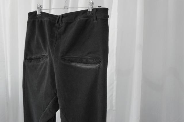 thom krom / heavy jersey pants / BLKOIL