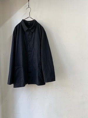 1970's Vintage German Fly Front Work Jacket(1970年代頃 ドイツ 黒いワークジャケット)