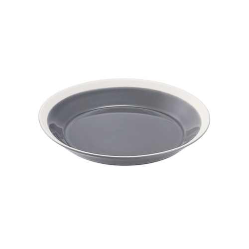yumiko iihoshi porcelain(イイホシ ユミコ) Dishes プレート180 fog gray